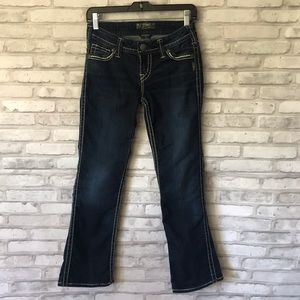 "Silver Jeans Frances 18"" Dark Wash Sz 26"